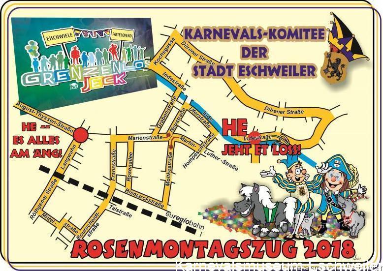 Rosenmontagszug Eschweiler 2018 Karnevalsmuseum Eschweiler